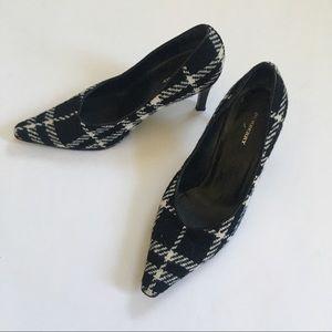 Size 6 EU36 Burberry Houndstooth Plaid Pumps Heels